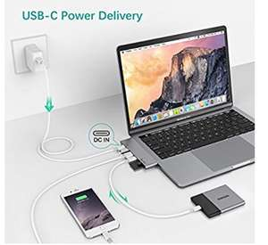 "Multi-Port USB C Hub for 2016 /2017 MacBook Pro 13"" and 15"" - £29.99 Sold by EgoIggo UK and Fulfilled by Amazon"