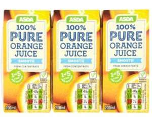 Asda 3x 200ml juice - 69p