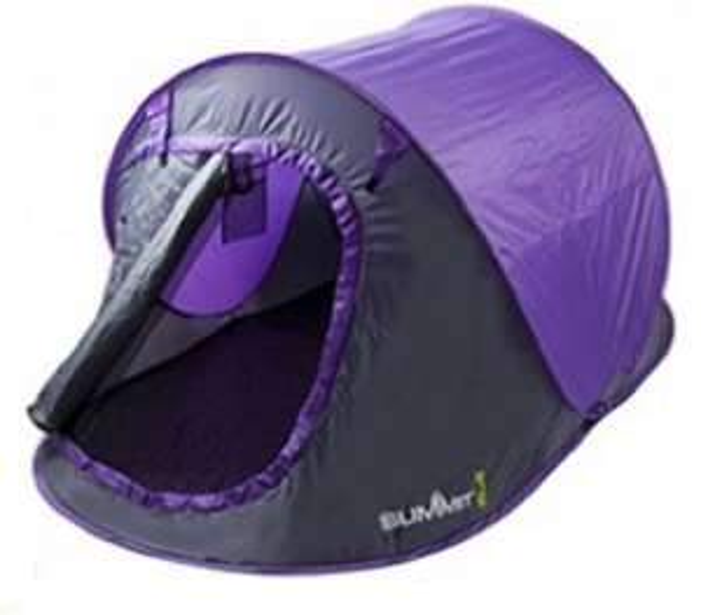 2 Man Pop Up Tent - Purple/Grey - £17.40 @ CPC Farnell