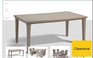 Keter outdoor table - cappuccino £4.99 @ Wickes