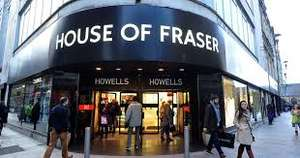FREE standard/next day delivery on all orders (limited time only) @ House of Fraser