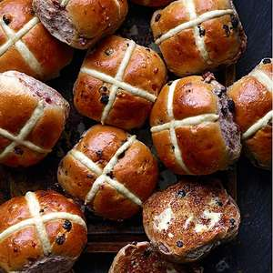 Hot cross buns £1 at M&S instore