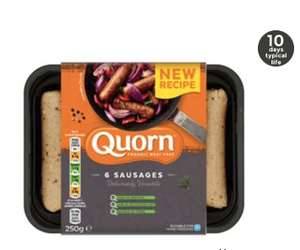 Quorn 6 Meat Free Sausages £1 @ Asda