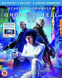 Ghost In The Shell 3D Blu-Ray + 2D Blu-Ray + Digital Download @ Amazon - £10 (Prime) / £11.99 (non Prime)