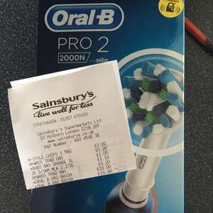 Oral B Pro 2 toothbrush reduced to £10.00 instore @ Sainsbury's - Strathaven