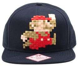Various Gaming Themed Clothes On Sale @ Currys e.g MARIO 3D Pixel Jumping Snapback Cap - Blue £14.99