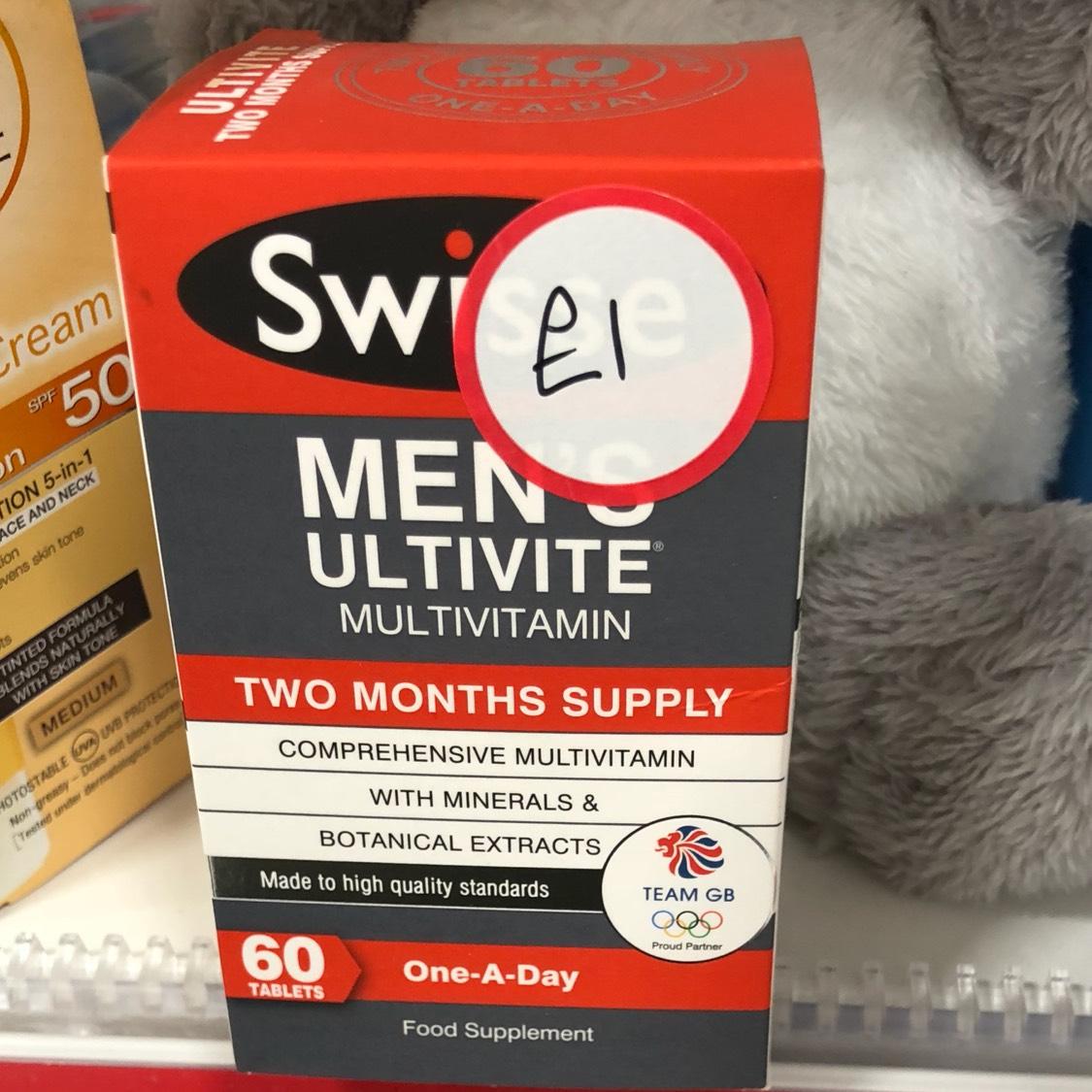 Swisse mens multivitamins 2 months £1 boots bexleyheath