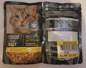 Tesco Cuts in Jelly Cat Food Pouches 3p instore - Clarkston