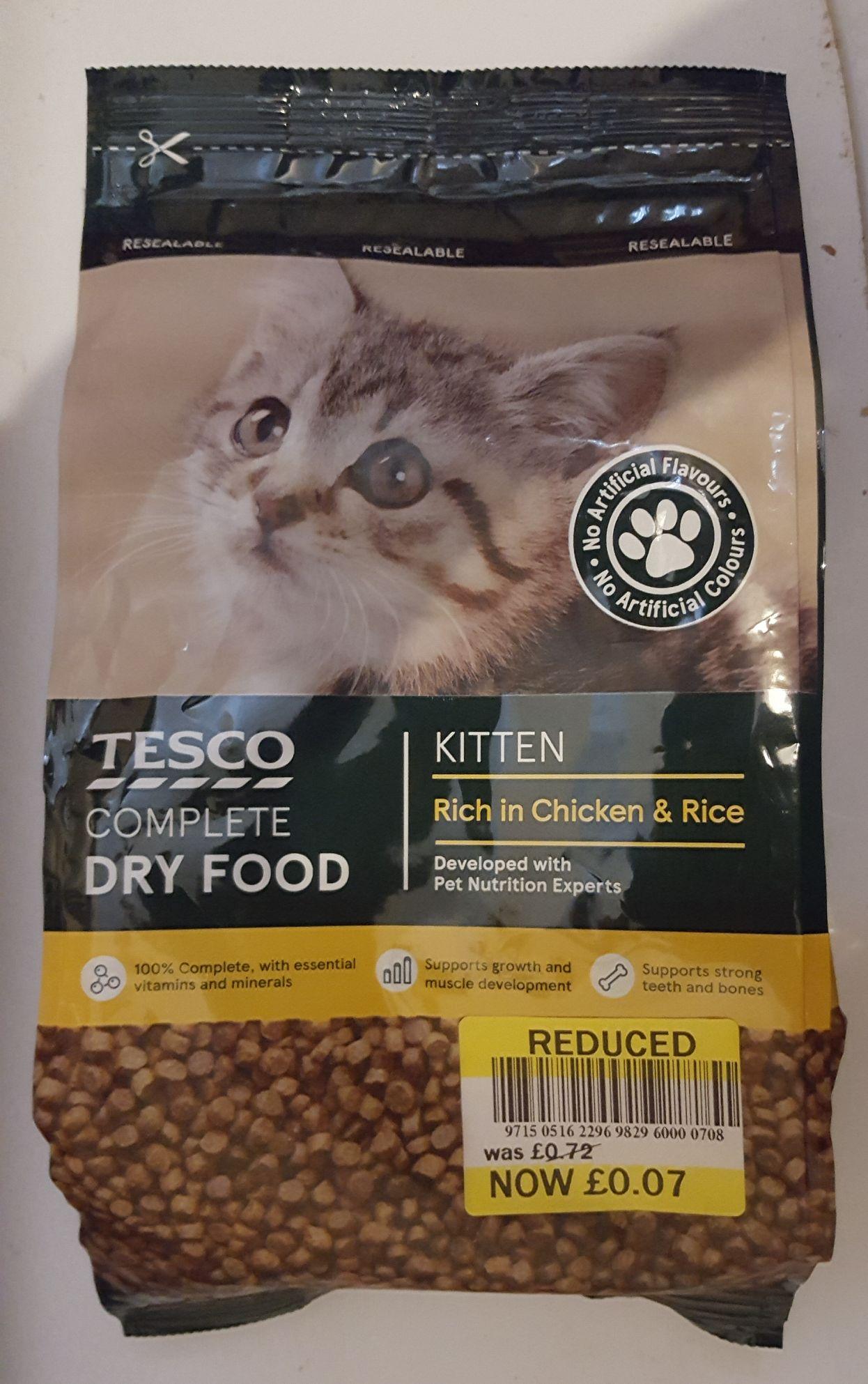 Tesco Complete Kitten Dry Food 7p instore - Clarkston