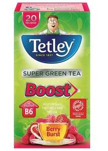 Tetley Super Green Tea with Berry Burst 20p @ Sainsbury's instore
