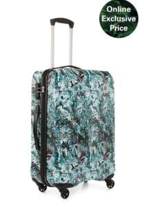 EDEN MEDIUM SUITCASE PATTERN GREEN £25 delivered - REVELATION LONDON