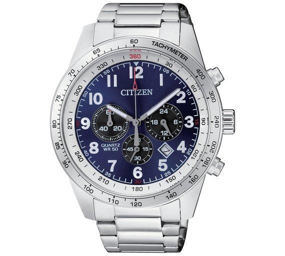 Citizen Men's Quartz Blue Dial Chronograph Watch with 6yr guarantee + Free Gift Box now £69.99 @ Argos