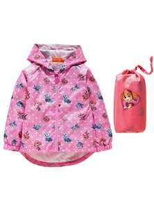 PAW Patrol Pack Away Jacket Pink (Was £14.99) Now £5.99 at Argos