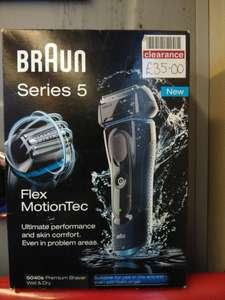 Braun Series 5 5040s Premium Wet & Dry Electric Shaver £35 @ Boots instore (Blackburn)