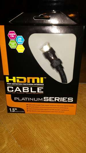HDMI 1.5m £2.99 @ Richer sounds -  Bromley