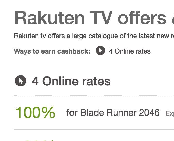 100% cashback on Blade Runner 2049 @ Rakuten from QuidCo - £6.99