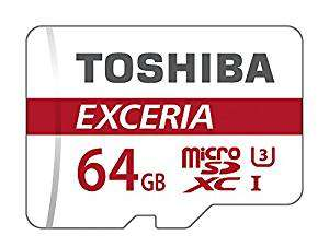 Toshiba Exceria Micro SD SDXC Memory Card UHS-1 U3 90MB/s with Full Size SD Card Adapter - 64GB @ 7dayshop.com - £17.88
