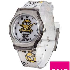 Despicable Me 3 Despicable Me 3 Pink Dial Black Strap Analogue Kids Watch Was £15 now £6 at Very
