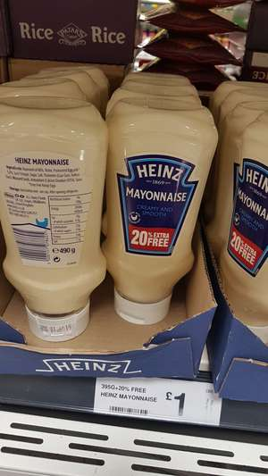 Heinz mayonnaise 490g - £1 instore @ Farmfoods