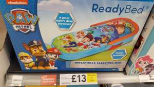 Paw Patrol ready bed, £13 reduced to clear from £36. instore only @ Tesco (Bournemouth)