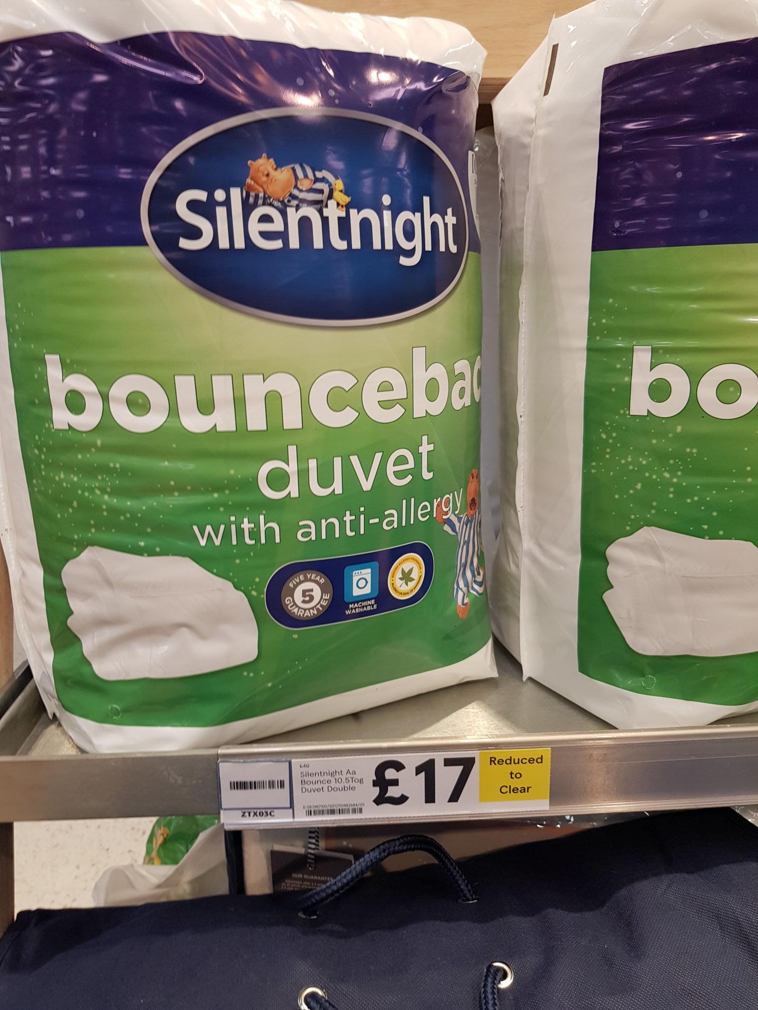 Silent night bounce back duvet Tesco instore (Hastings) - £17