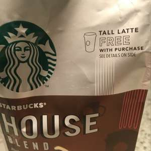 Starbucks Coffee - free tall late when you buy 200g house blend coffee - £3 for both