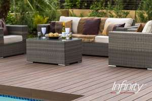 Eva-Last Composite Fluted Decking - Spanish Saffron 20 x 140mm x 2.4m Instore C&C only - £5 @ Wickes