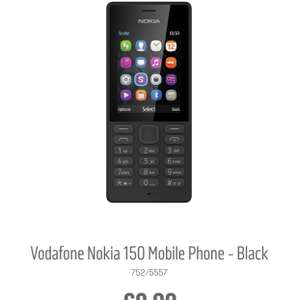 Nokia 150 on Vodafone for £9.99 no top up required @ Argos