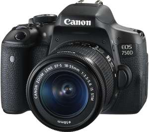 Canon EOS 750D Kit with 18-55mm IS STM Digital SLR Camera £388.99 @ Toby deals