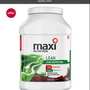 Maximuscle 1kg £12.50 @ boots online and instore