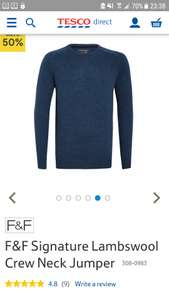 Pure lambswool jumper - £11 @ Tesco F&F