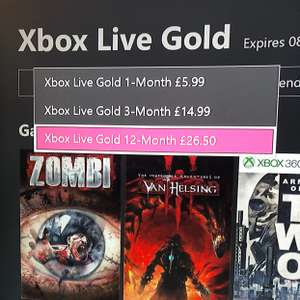 12 Months Xbox Live DEAL! £26.50 on dashboard  if your current Xbox Live is about to expire