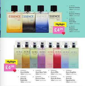 Smell-A-Likes (Aura For Women, Essence For Men), In Stores From Thursday 8th February, 100ml Bottles, See OP, @ Lidl