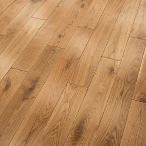 Lacquered Solid Oak Flooring ,Liberty Floors Heritage 15x90mm UV  £19.99 PER M² ( shipping £36) at Leader