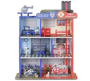 Chad Valley Wood Shed Fire & Police Station now £17.99 from Argos