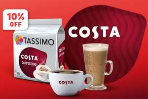 Get 10% + Free delivery when spent £30 or more @ Tassimo