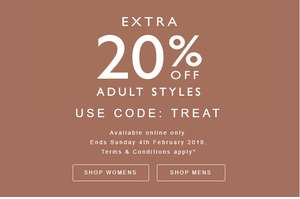 Clarks Outlet - FLASH SALE! Extra 20% off + FREE DELIVERY