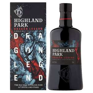 Highland Park (Dragon Legend 43.1% Scotch Whisky 70cl - £30) & (Malt Whisky 70Cl - £26) @ Tesco In-Store and Online