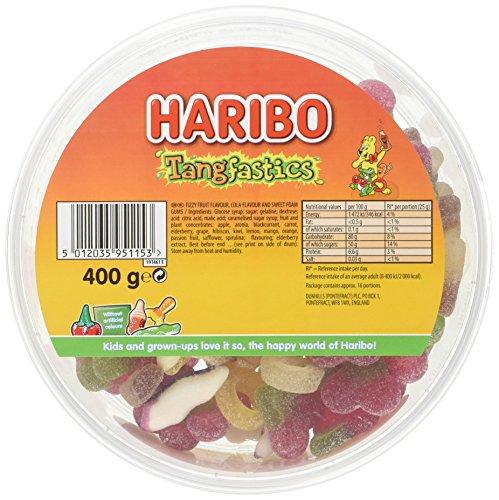 Haribo tangfastics 400g tub pack of 8 add on item £1.99 Amazon
