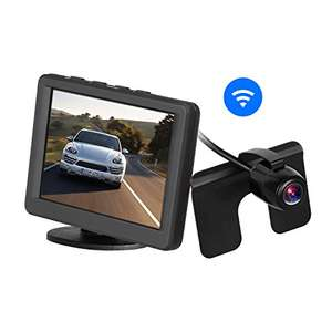 Car Wireless Rear View Camera Monitor Kit - 3.5 Inch LCD Reversing Monitor Sold by Icarmore and Fulfilled by Amazon - £32.89
