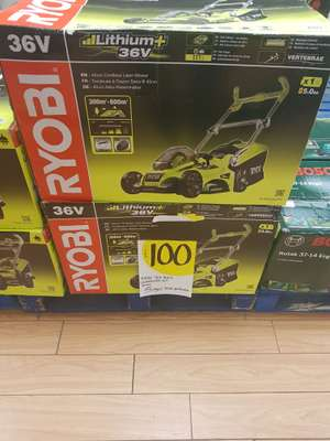 Ryobi battery powered lawn mower Homebase instore - £100