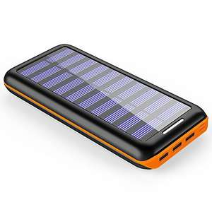 Lightning Deal - Power Bank 24000mAh Solar Charger £20.79 Sold by PLOCHY DIRECT and Fulfilled by Amazon - lightning deal