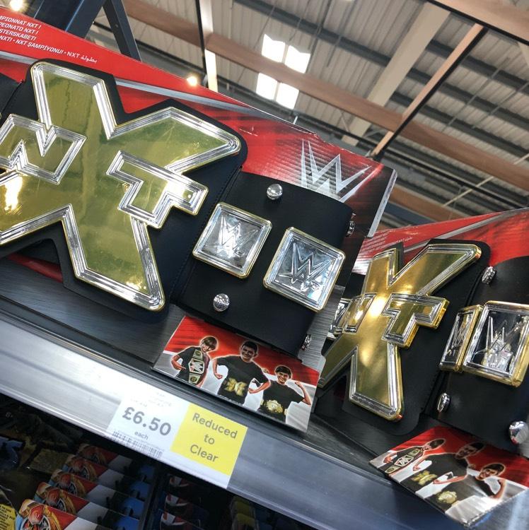 WWE Wrestling NXT Belt - Tesco instore (Durrington) - £6.50
