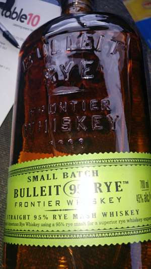 Bulleit rye whiskey 700ml.banbridge £11.63 instore at Tesco, Reduced to clear.