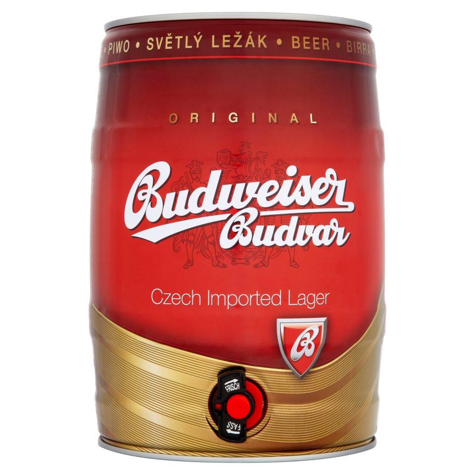 Budweiser Budvar Czech Lager 5 Litre Keg £12.99 @ Iceland