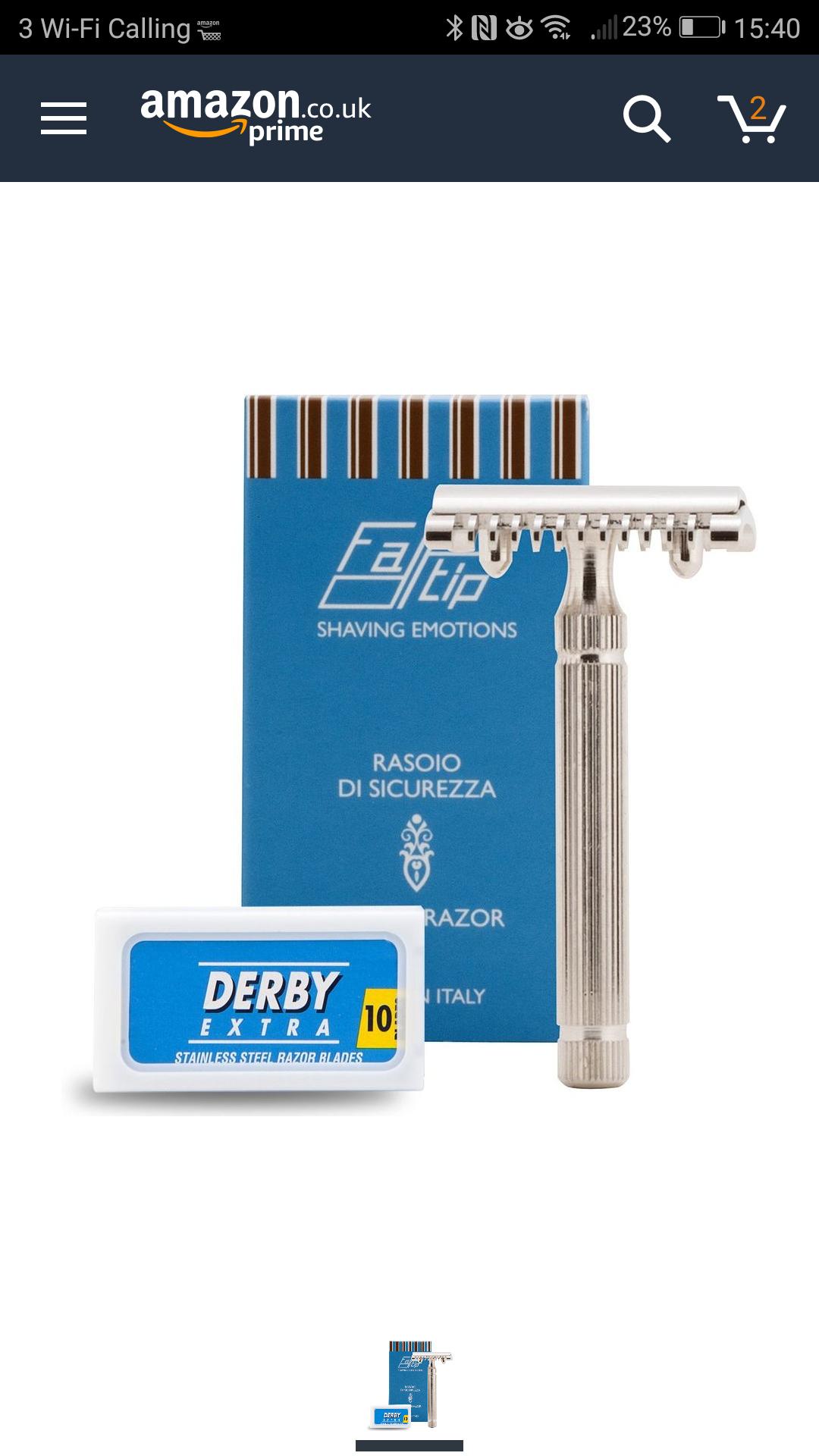 Fatip open comb razor - £13.14 (Prime) £18.13 (Non Prime) @ Amazon