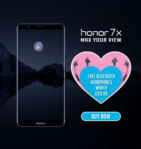 Honor 7x 4gb @ honor uk with free Bluetooth earphones - £269.99
