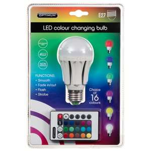 B&M Optimum LED Colour Changing Light Bulb - £7.99 @ B&M