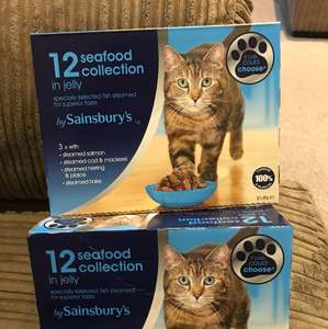Reduced to £1. Sainsbury's cat food pouches x12