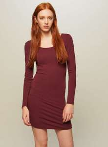 Burgundy Long Sleeve Bodycon Dress. Was £12 now £3 @ Miss Selfridge. Free C&C
